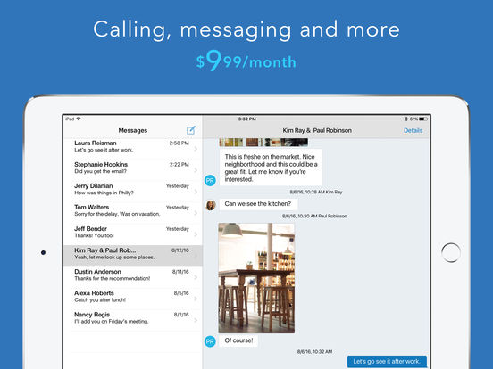 Line2 - A new phone line with calling, texting, and business features. iPad Screenshot 2