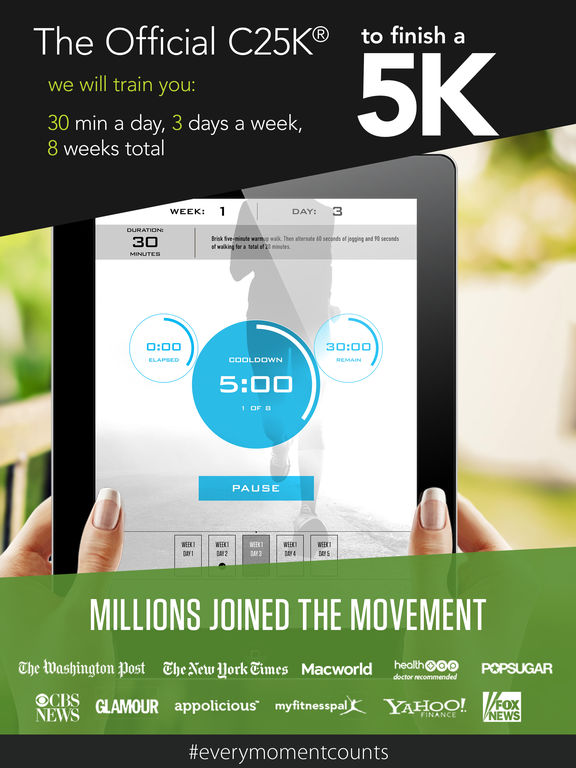 Screenshots of C25K® - 5K Trainer FREE - (Go from Couch Potato to Running the 5K) for iPad