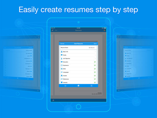 easy resume app resume apps free quick resume resumes builder and