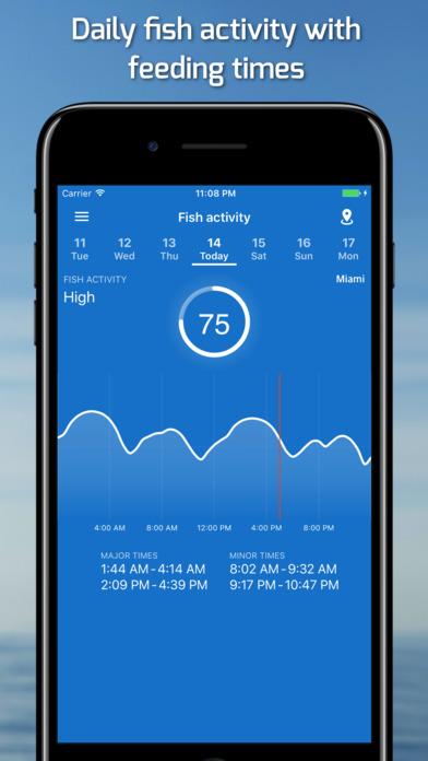 Fishing points gps tides solunar forecast app download for Fishing gps apps