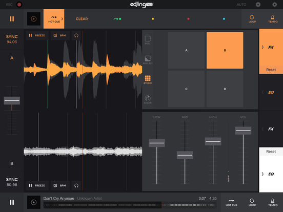 edjing Pro LE DJ Music Mixer: turntable remix MP3 Screenshots