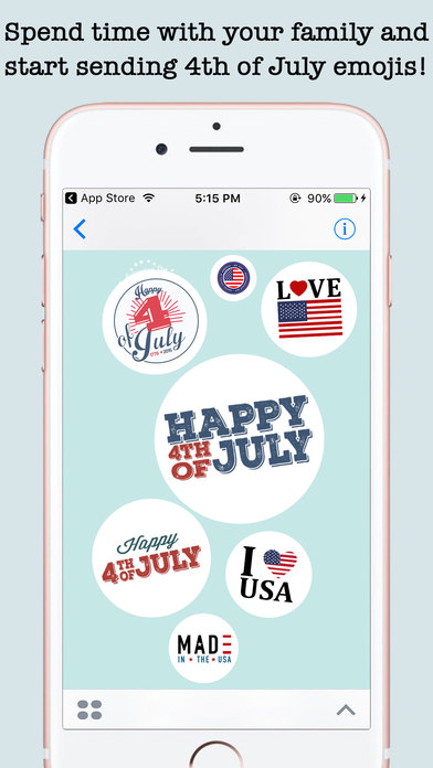 4th Of July Wishes Stickers For iMessage screenshot 4