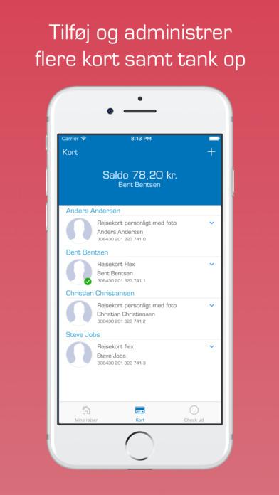 Rejsekort med Det Blå Punkt screenshot 4