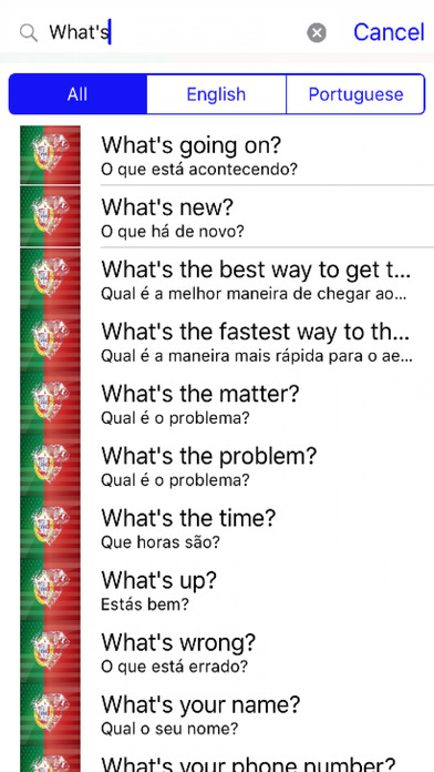 Portuguese Phrases screenshot 2