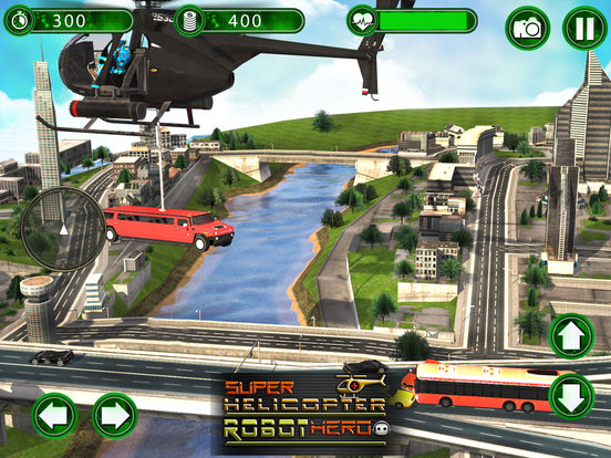 Super Helicopter Robot Hero screenshot 6