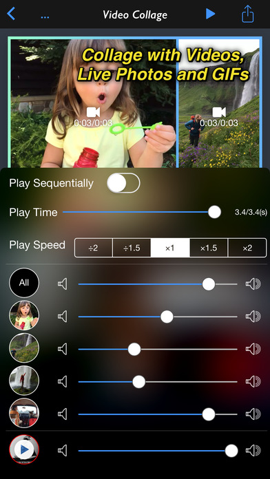 Live Square for Photo, Live Photo, Video and GIF Screenshots