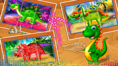 Dinosaur swap puzzle screenshot 2