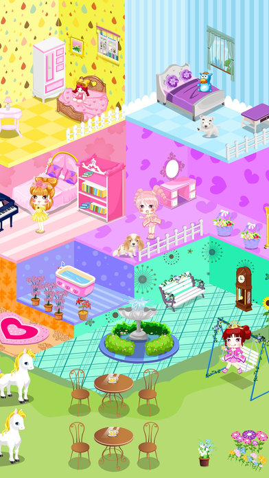 App shopper qute doll house decoration children 39 s room for Baby room decoration games free online