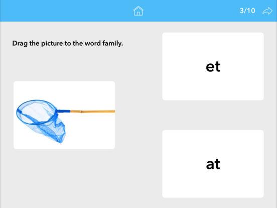 Screenshot #2 for Word Families by Teach Speech Apps