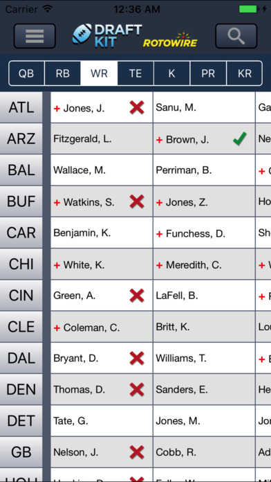 RotoWire Fantasy Football Draft Kit 2017 screenshot 4