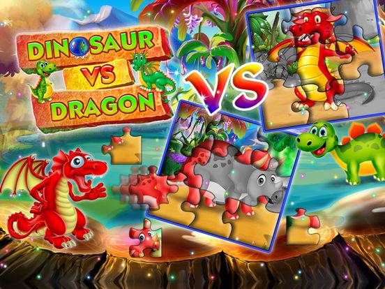 Dinosaur vs dragon: Puzzle screenshot 8