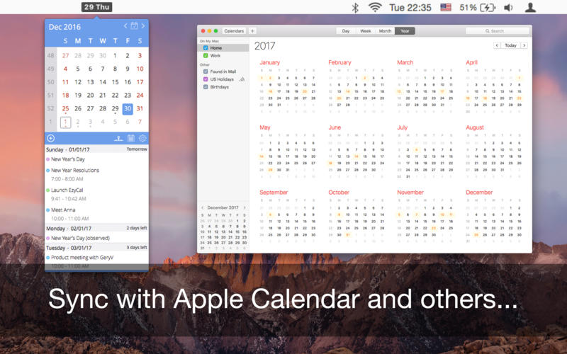 EzyCal - Calendar, Remainders & To Dos List for Mac