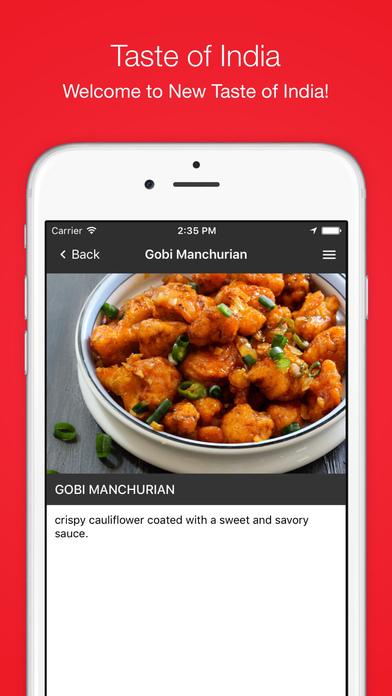 App shopper new taste of india food drink for Amans indian cuisine menu
