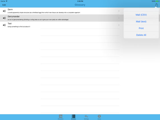 Dictionary - iGlossator Screenshots
