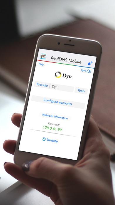 RealDNS - Dynamic DNS update client for IPv4, IPv6 Screenshots