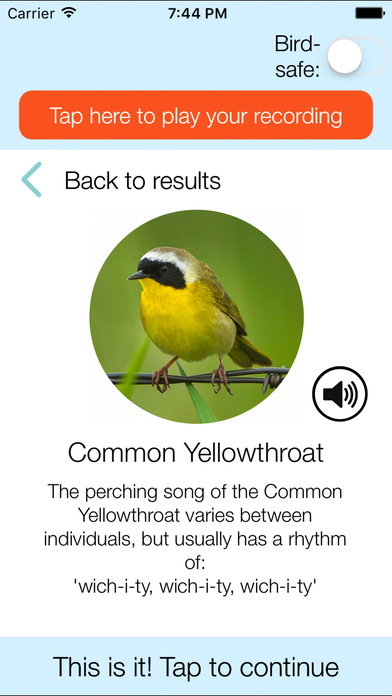 ChirpOMatic USA, Automatic Bird Song Recognition screenshot 4