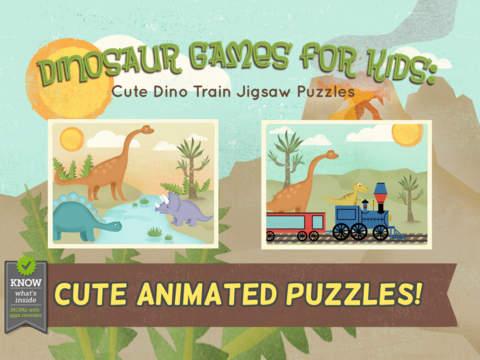 Игры про динозавров для детей: пазл на iPad
