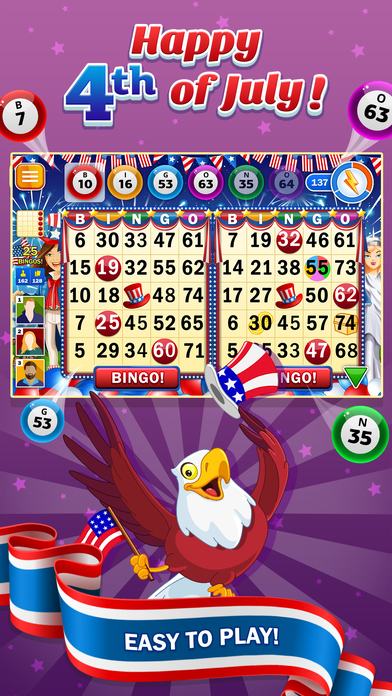 Screenshot 4 BINGO! Games of 4th of July Independence Day 2017