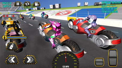 Superheroes Moto Bike Racing screenshot 1