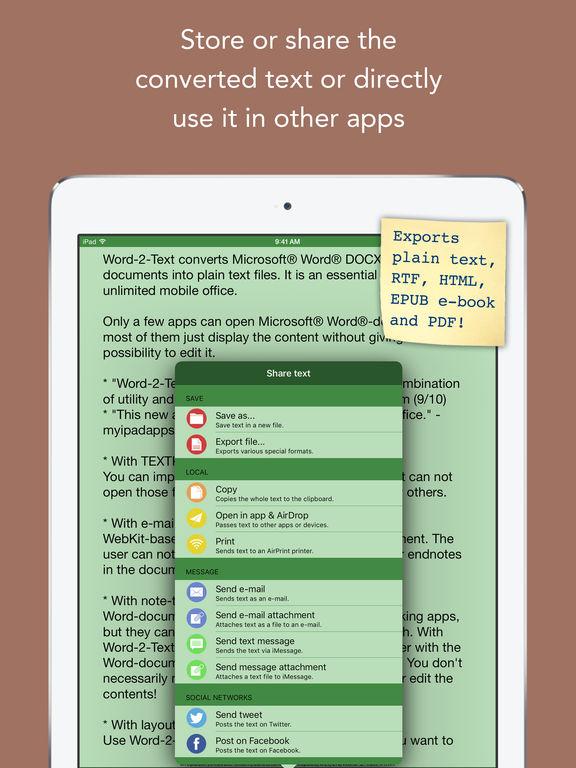 Word-2-Text Converter Screenshots
