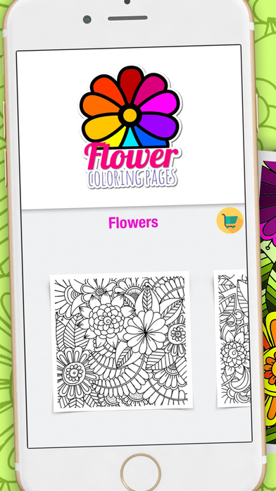 Flower coloring pages colouring book for adults app Coloring book for adults app