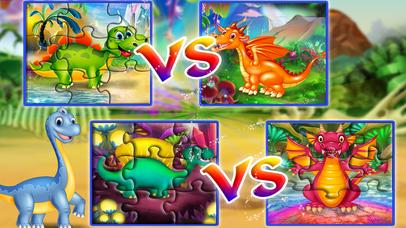 Dinosaur vs dragon: Puzzle screenshot 5