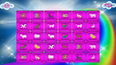 Animals In The Farm Memory Match screenshot 3