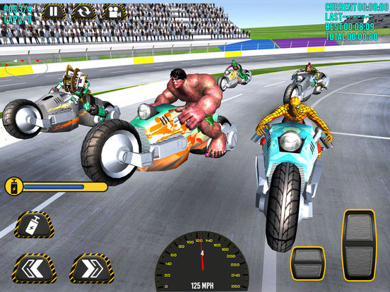Superheroes Moto Bike Racing screenshot 6