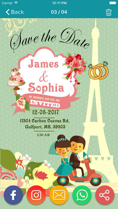 Wedding invitation greeting cards maker app report on mobile screenshot for wedding invitation greeting cards maker in united states app store stopboris Choice Image