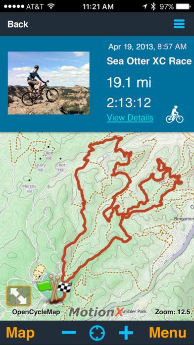 MotionX GPS Screenshots