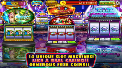 Screenshot 1 Roses & Diamonds Casino — Classic Slots Las Vegas