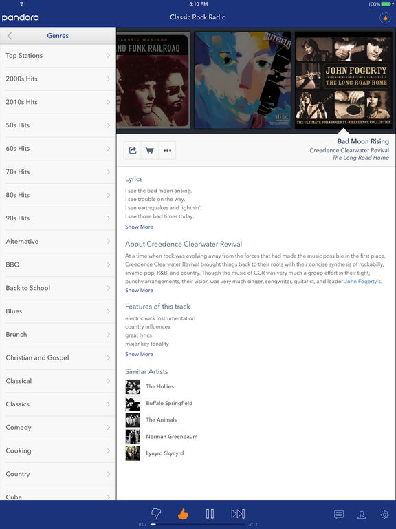 Pandora - Music & Radio iPad