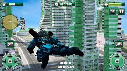 Flying Monster Hero Bike Transformation screenshot 5