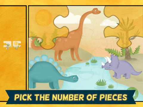 Игры про динозавров для детей: пазл для iPad