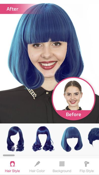 Hairstyle Changer hairstyle changer photo editor screenshot 16 Iphone Screenshot 3