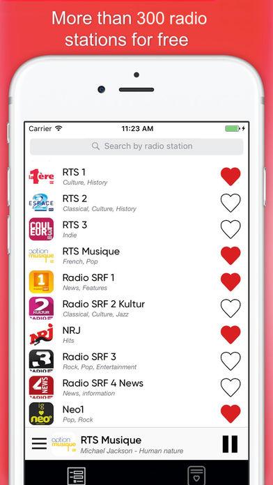 Радио Швейцария : swiss radios FM Скриншоты3