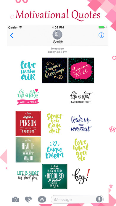 Motivational Love Quote Stickers screenshot 1