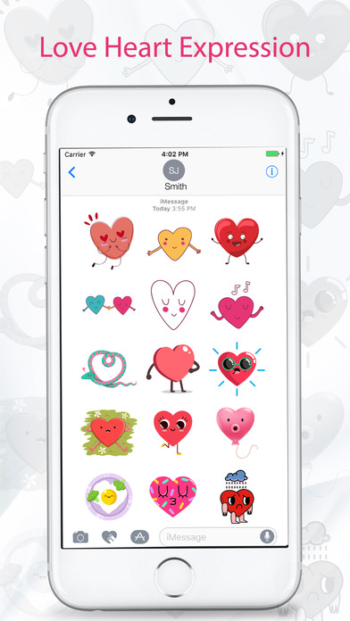 Love and Heart Stickers - Emojis, Emoticons screenshot 2