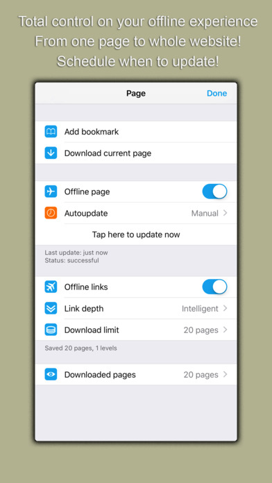 Oxygen Offline Browser Screenshots