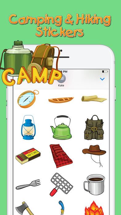 Screenshot of Camping & Hiking Stickers App