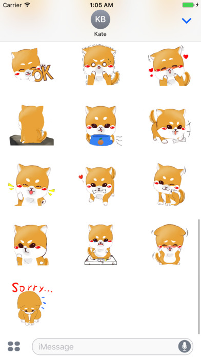 Shiba Inu Dog Cute Stickers screenshot 4