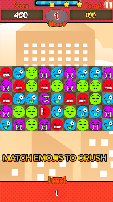 Jelly Emoji Match screenshot 2