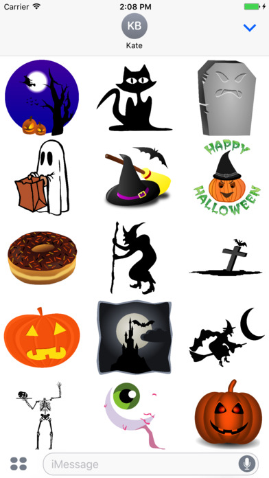 Spooky Halloween Stickers - Boo! screenshot 2