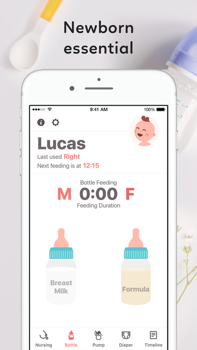 Newborn Baby Tracker: Breastfeeding & Diaper Log screenshot 1