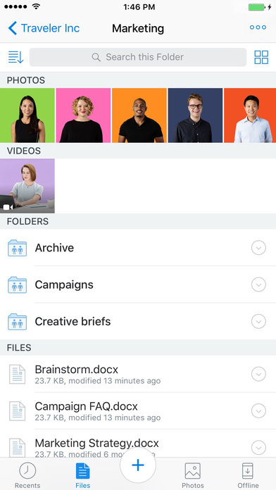 Dropbox Screenshots