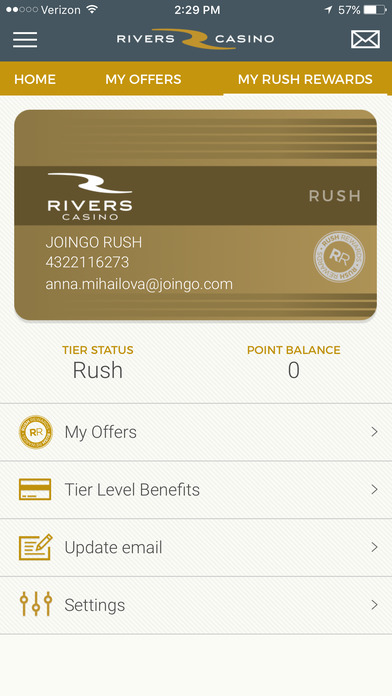 rivers casino app not working