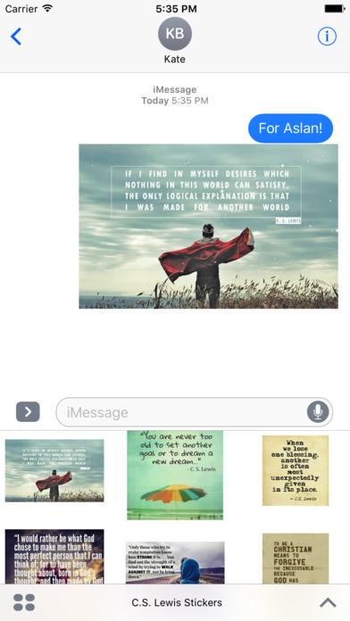 C.S. Lewis Quotes -- Inspiring Stickers screenshot 1