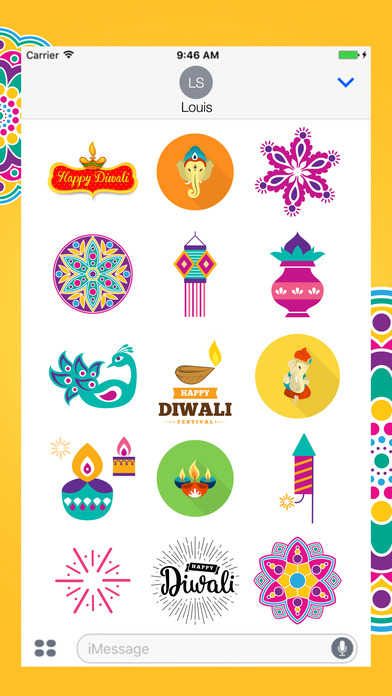 Diwali Stickers Pack For iMessage screenshot 1