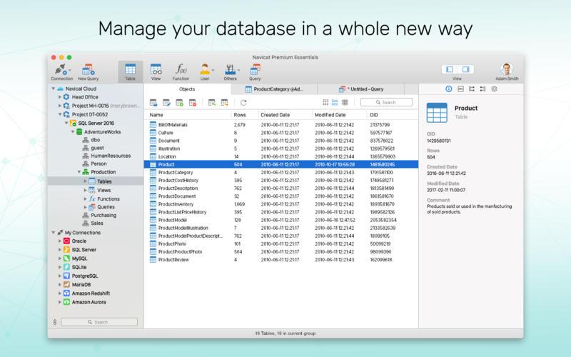 Navicat Premium Essentials - version 12 for Mac