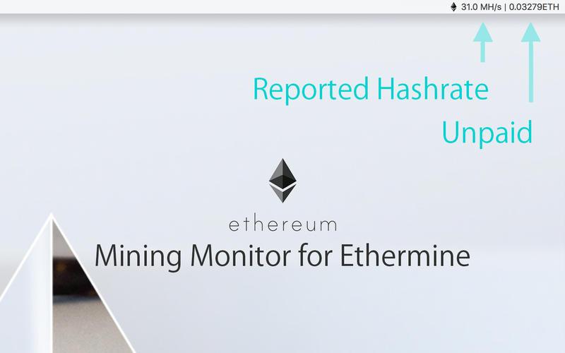 Ethermine Monitor Lite for Mac